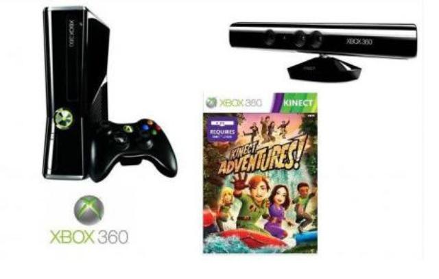 MICROSOFT Xbox 360 250 GB WiFi + Kinect + Kinect Adventures