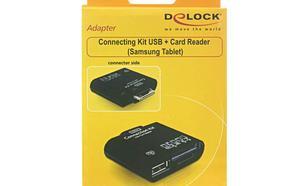 DELOCK Czytnik kart SDHC(6in1)+USB OTG dla Samsung TAB