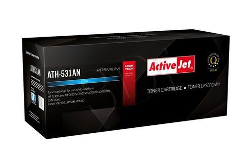 ActiveJet ATH-531AN cyan toner do drukarki laserowej HP (zamiennik 304A CC531A) Premium