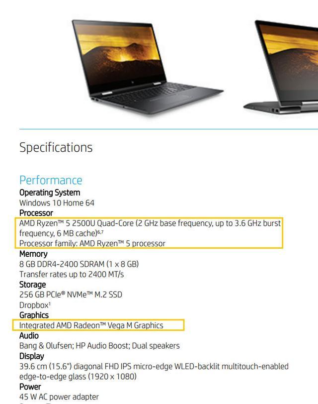 AMD Ryzen 5 2500U APU