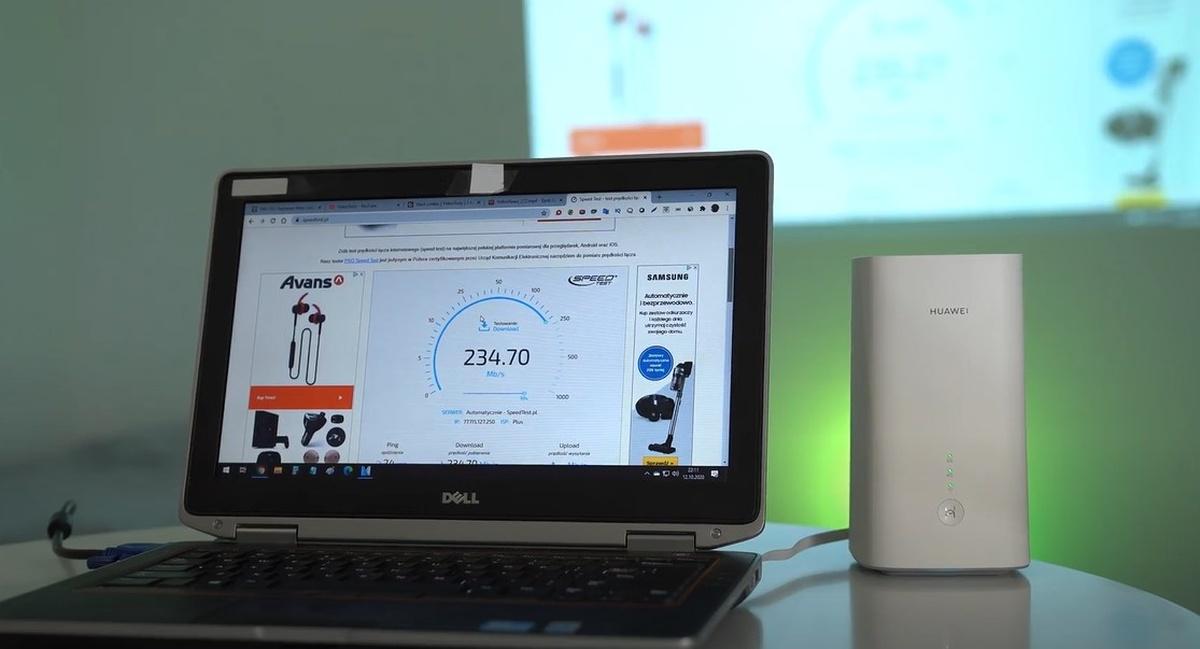 Internet 5G Plusa zaoferował stabilne prędkości powyżej 200 MBit/s
