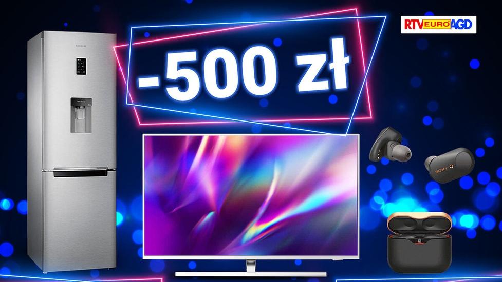 Taniej do 500 zł - AGD, RTV i telefony