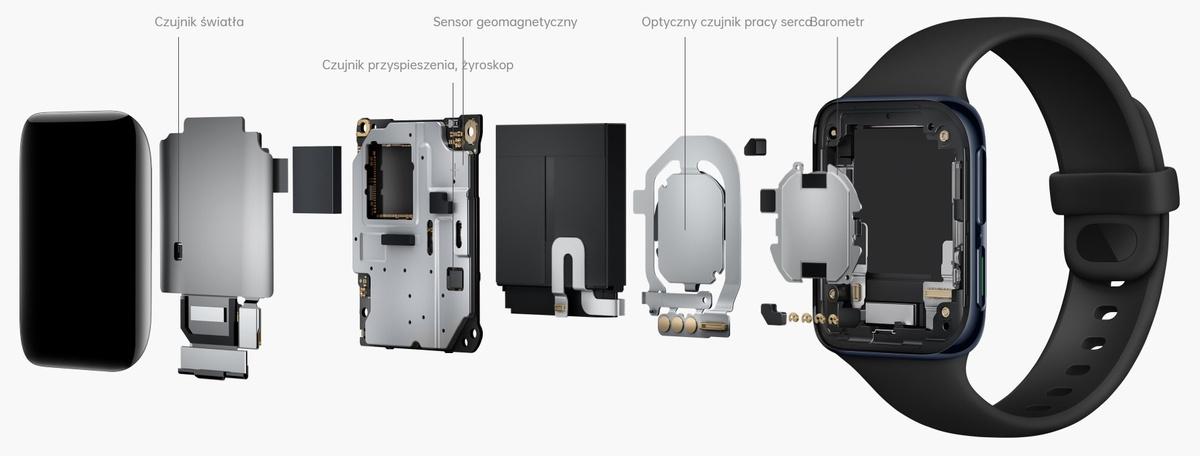 Czujniki Oppo Watch pozwolą na całodobowe monitorowanie stanu zdrowia