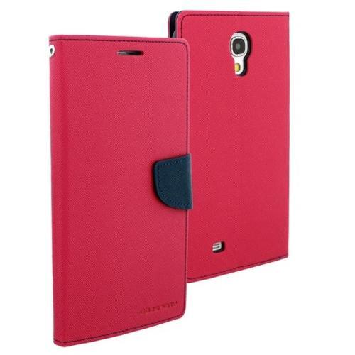 """WEL.COM Etui skórzane Fancy do Samsung Galaxy Tab 3 7"""" ciemy róż - granat"""