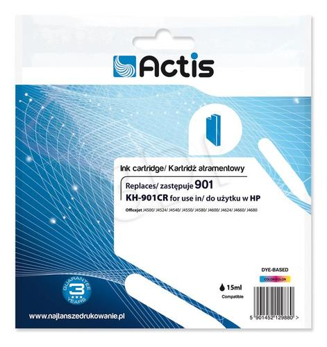 Actis KH-901CR tusz trójkolorowy do drukarki HP (zamiennik HP 901 CC656AE) Standard