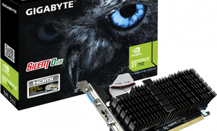 Gigabyte GeForce GT 710 1GB GDDR3 (64 bit) HDMI, DVI, D-Sub, Low Profile (GV-N710SL-1GL)