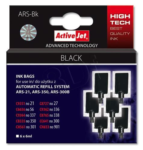 ActiveJet woreczek z czarnym tuszem ARS-Bk 6x6ml