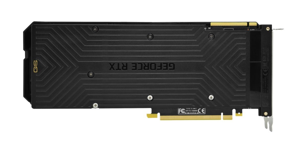 Gainward GeForce RTX 2070 SUPER Phoenix GS -backplate