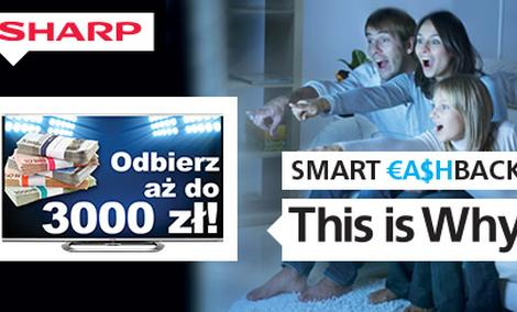 Smart Cash Back oraz Więcej Niż Smart - atrakcyjne promocje telewizorów Sharp