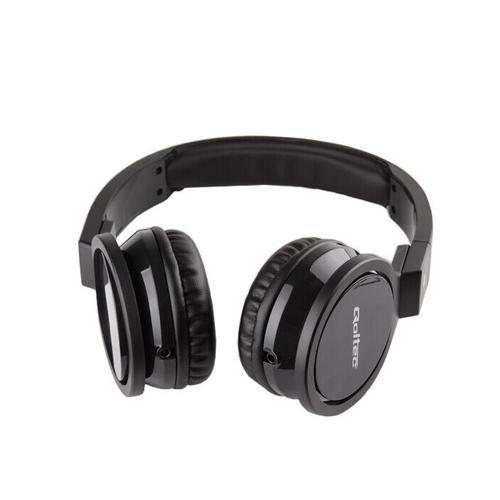Qoltec Słuchawki nauszne - mikrofon | czarny | + kabel do PC