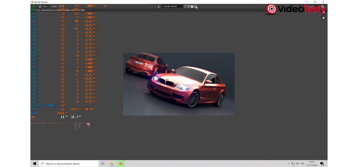 MSI MEG X570 Unify - blender BMW