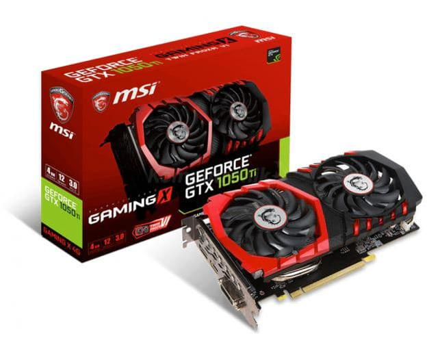 Karta Graficzna MSI GeForce GTX 1050 Ti GAMING X