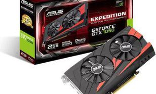 Asus GeForce GTX 1050 Expedition 2GB GDDR5 (128 Bit) HDMI, DVI-D, DP, BOX (90YV0A82-M0NA00)