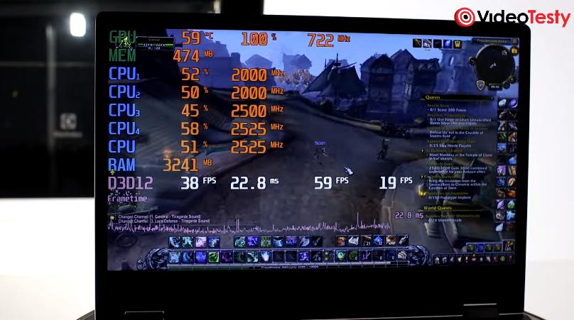 Wydajność w grach laptopa Lenovo IdeaPad C340