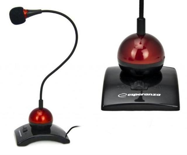 Elastyczny i solidny mikrofon Esperanza EH 130