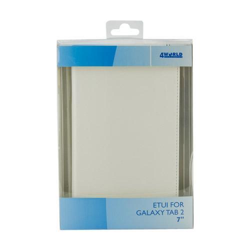 4World Etui ochronne/Podstawka do Galaxy Tab 2, Folded Case, 7'', białe