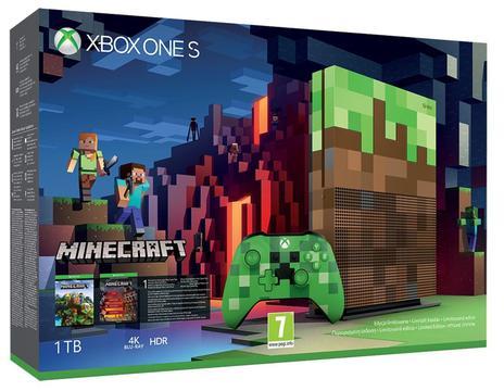 prezenty świąteczne do 1700 zł - konsola MICROSOFT XBOX ONE S 1TB Edycja specjalna + Gra Minecraft + 6M Live Gold