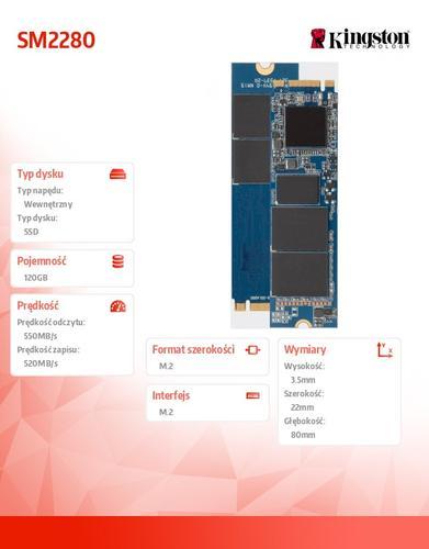 Kingston SM2280 120GB M.2 2280 550/520MB/s