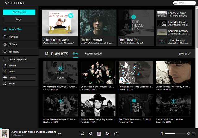 Topowy seriws streamujący muzykę - Tidal