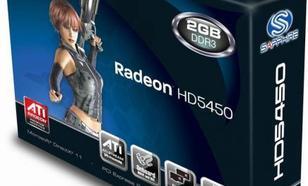 Sapphire Radeon HD5450 2GB GDDR3 (64 Bit) HDMI, D-Sub, DVI-D, BOX (11166-68-20G)