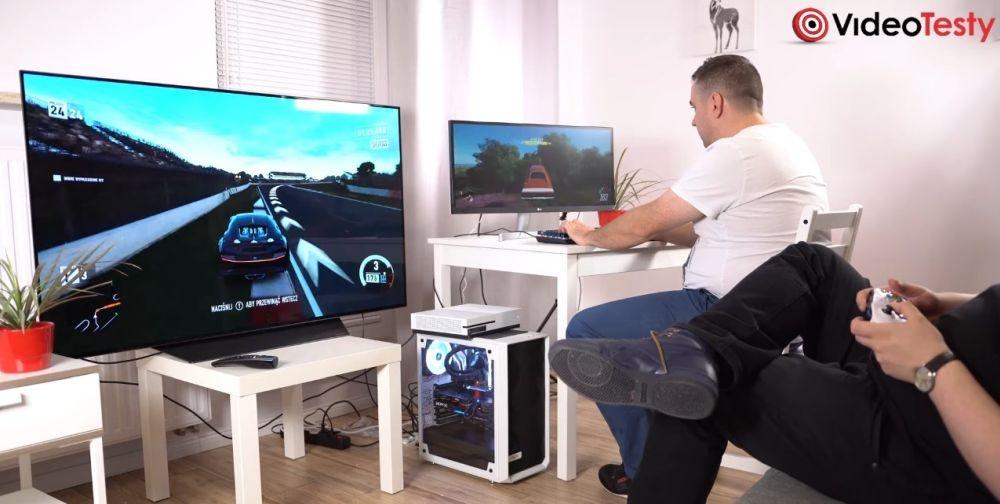 porównanie dla graczy - monitor vs telewizor