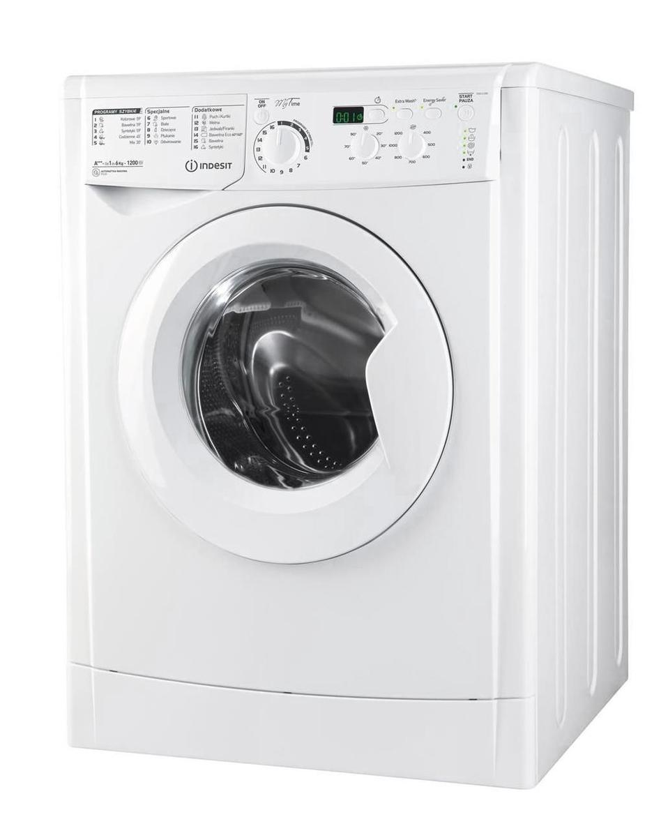 Indesit EWD 61283 W PL ( 1200 obr/min ; 6 kg ; 535 mm ; Klasa A+++ )