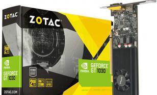 Zotac GT 1030 LP 2GB GDDR5 (64 bit), HDMI, D-Sub, BOX (ZT-P10300E-10L)