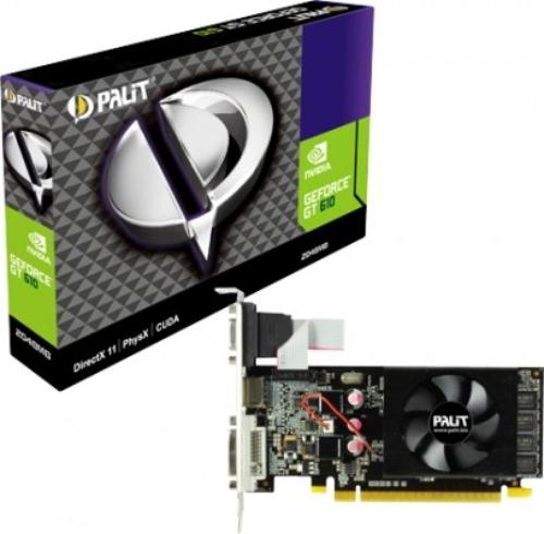 Palit GeForce CUDA GT610 2GB DDR3 PCI-E 64BIT DVI/HDMI/DS FAN