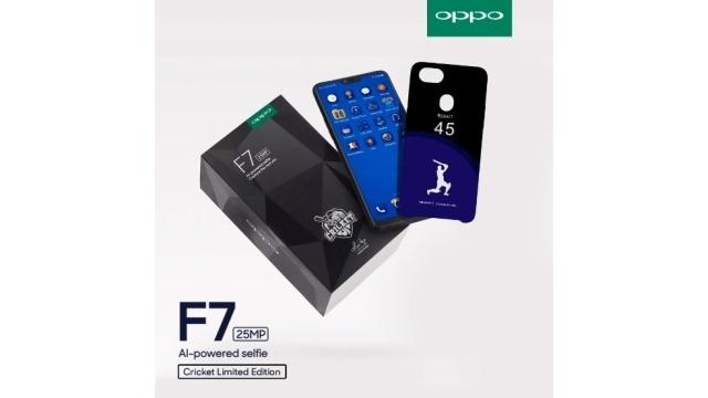 OPPO F7 Diamond Black Cricket Edition