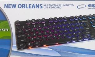 Esperanza przewodowa podświetlana multimedialna USB NEW ORLEANS-EK133