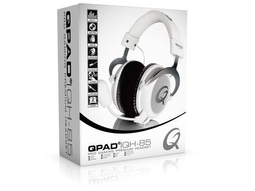 QPAD QH-85 Białe Słuchawki dla graczy