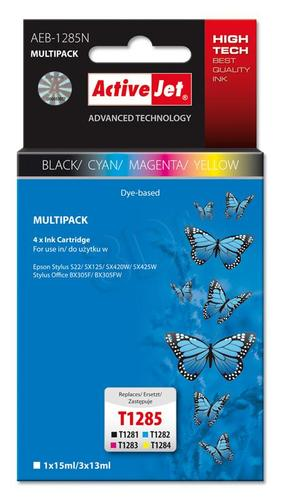 ActiveJet AEB-1285N multipack tusz multipack czarny, cyan, magenta, żółty do drukarki Epson (zamiennik Epson T1285 ) Supreme