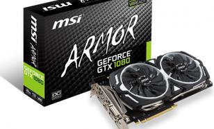 MSI GeForce GTX 1080 ARMOR OC 8GB GDDR5X (256 bit) 3x DP, HDMI, DVI-D, BOX (GTX 1080 ARMOR 8G OC)