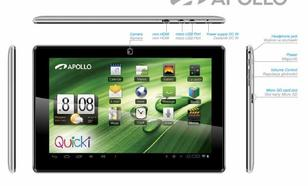 Apollo Quicki 1150 Dual Core IPS 1280x800 Aluminium