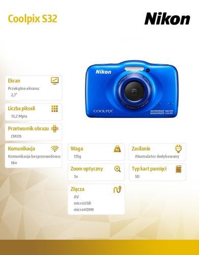 Nikon S32 blue