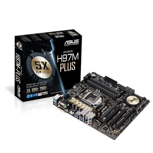 Asus H97M-PLUS s1150 H97 4DDR3 RAID/USB3/GLAN mAT