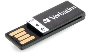 Verbatim USB Drive 4GB Clip-It Black 2.0