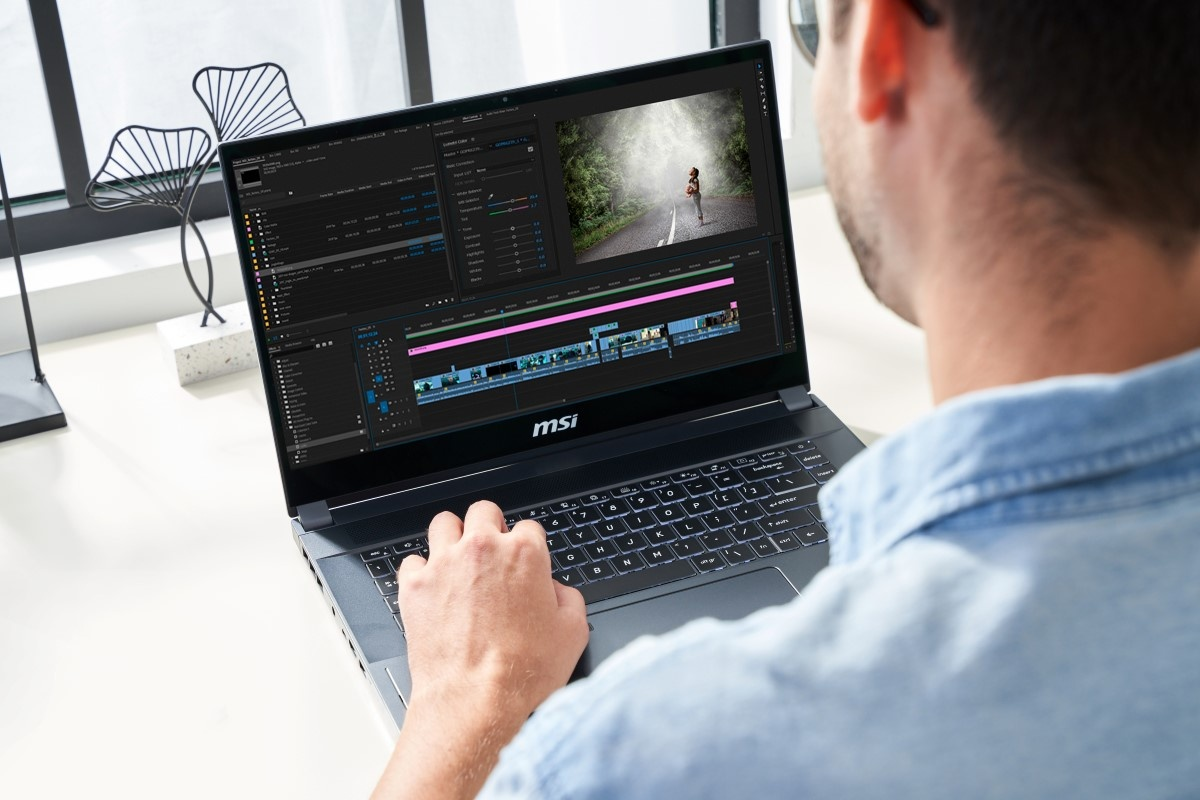 Montaż wideo na MSI Creator 15