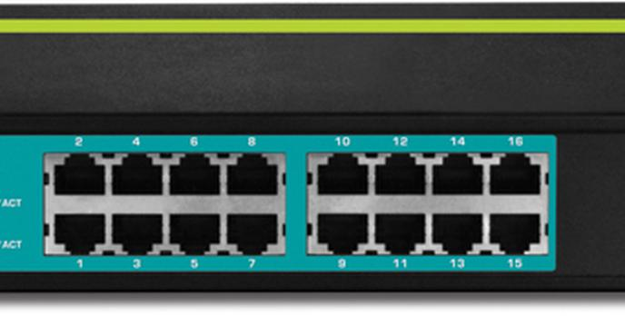 TRENDnet TPE-T160 -  16-Portowy 30 Watowy Switch  10/100Mbps z PoE