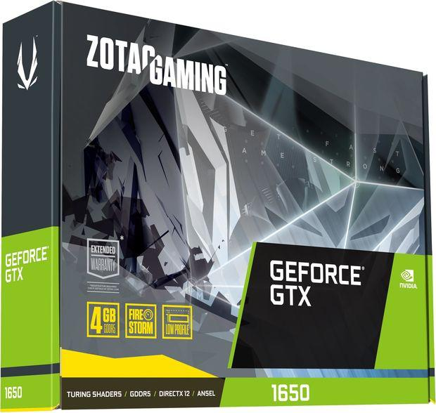 Zotac GeForce GTX 1650 Gaming Low Profile 4GB GDDR5 (ZT-T16500H-10L)