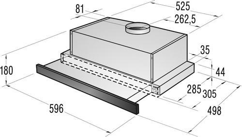 Gorenje Okap podszafkowy DKF2600MS - Typ II