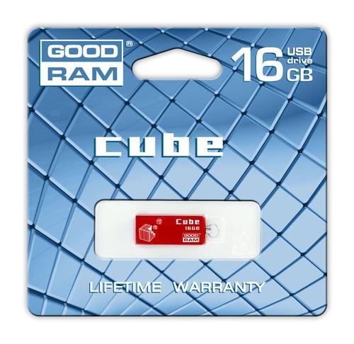 GoodRam Cube 16GB USB 2.0 Czerwony