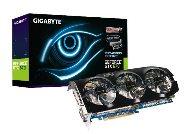 GIGABYTE prezentuje GeForce GTX 670 z technologią WINDFORCE Triangle Cool
