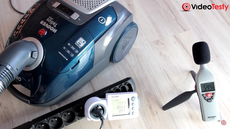 Pobór prądu i hałas odkurzacza Hoover Telios Extra