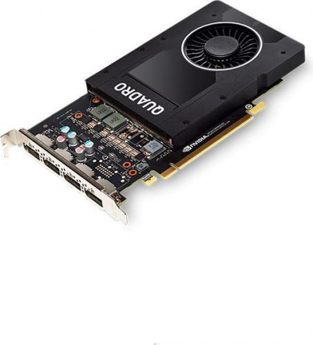 HP NVIDIA Quadro P2000, 5GB GDDR5 (160 Bit), 4xDisplayPort (1ME41AA)