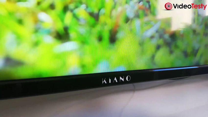 Kiano Slim TV50 logo producenta na ramce dolnej