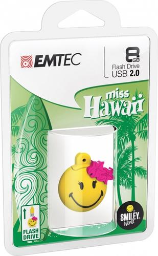 EMTEC Pendrive 8GB Smilley World Miss Hawaii Y