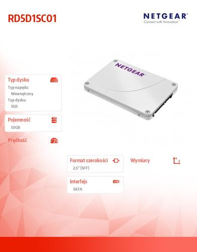 NETGEAR ReadyDATA RD5D1SC01 Drive Pack 1 x 50GB SSD SLC 2.5'' Write Cache (for RD5200)