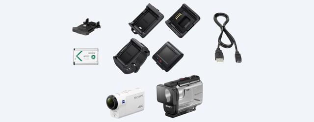dobra kamera z uchwytem SONY FDR-X3000R + AKA-FGP1