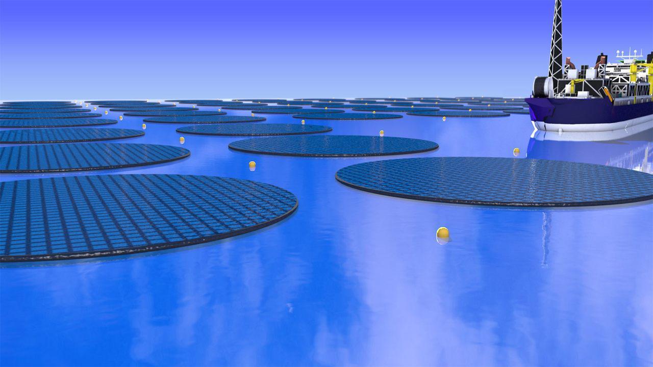 Nanofarmy solarne będą formowane w kręgi (źródło: Kasper Pindsle)